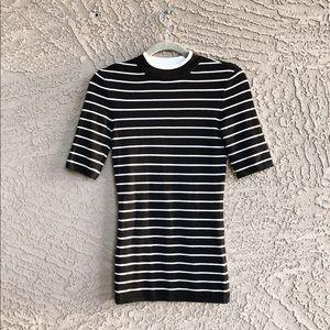 H&M ✨NWT✨ Fine Knit Viscose Striped Sweater Top